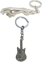 Alexus Jaguar And Guitar Key Chain(Silver)