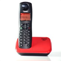 View Gigaset A450 Cordless Landline Phone(Black Red) Home Appliances Price Online(Gigaset)