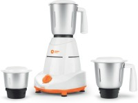 Orient Electric MG5001G 500 W Mixer Grinder(White and Orange, 3 Jars)