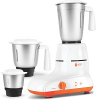 Orient Electric MG5502G 550 W Mixer Grinder(White and Orange, 3 Jars)