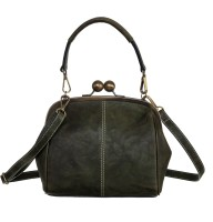 Klasse Women Green Genuine Leather Sling Bag