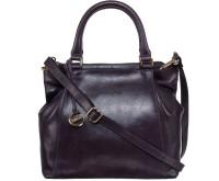 Klasse Women Blue Genuine Leather Hand-held Bag