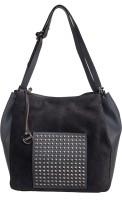 Klasse Women Grey Genuine Leather Shoulder Bag