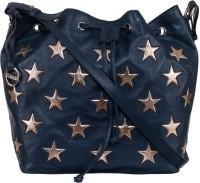 Klasse Women Blue Genuine Leather Sling Bag