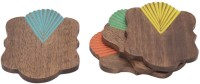 Store Indya Rectangle Wood Coaster Set(Pack of 4)