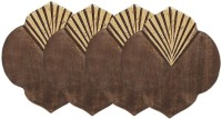 Store Indya Rectangle Wood Coaster Set(Pack of 4)