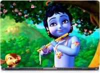 HD Arts Animated Little Krishna Sparkle Laptop Skin . ECO Vinyl Laptop Decal 15.6