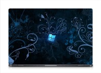 HD Arts Blue Window Wallpaper ECO Vinyl Laptop Decal 15.6