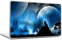 View HD Arts Fantasy Wolf Howling Moon ECO Vinyl Laptop Decal 15.6 Laptop Accessories Price Online(HD Arts)