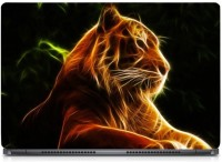 HD Arts Digital Fractal Tiger ECO Vinyl Laptop Decal 15.6