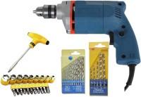 STAR drill machine Premium Quality + 1xT-Bar set+ 2 Drill Bit set Combo Pistol Grip Drill(10 mm Chuck Size)