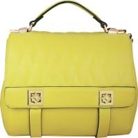 AZEEZ Women Yellow Rexine Hand-held Bag