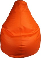 View E'Loisa Medium Bean Bag  With Bean Filling(Orange) Furniture (E'Loisa)