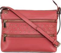 Klasse Women Maroon Genuine Leather Sling Bag