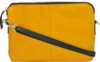AzraJamil Women Yellow Genuine Leather Sling Bag