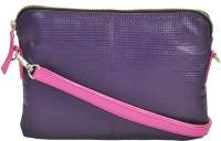 AzraJamil Women Purple Genuine Leather Sling Bag