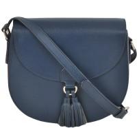 AzraJamil Women Blue Genuine Leather Sling Bag