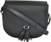 AzraJamil Women Black Genuine Leather Sling Bag