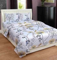The Divine Cotton King Bed Cover(Multicolor, 1 Double Bedsheet With 2 Pillow Covers)