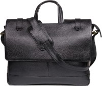View Leatherworld 15 inch Laptop Messenger Bag(Black) Laptop Accessories Price Online(Leatherworld)