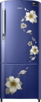 Samsung 212 L Direct Cool Single Door 4 Star Refrigerator(Star Flower Blue, RR22M274YU2/NL)