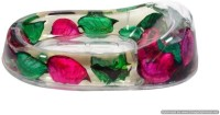 Skywalk Contemporary Floral Design Soap Dish(Multicolor)