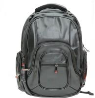 Armaan Leather Waterproof Backpack(Black, 17 inch)