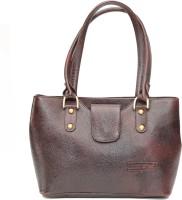 Armaan Leather Hand-held Bag(Brown)