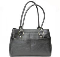 Armaan Leather Hand-held Bag(Black)