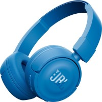 JBL T450BT Pure Bass Headset with Mic(Blue, On the Ear)