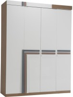 Durian SPENCER/WD Engineered Wood 4 Door Wardrobe(Finish Color - White/Brown)
