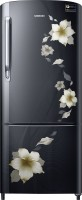 Samsung 192 L Direct Cool Single Door 3 Star Refrigerator(Star Flower black, RR20M272ZB2/NL,RR20M172