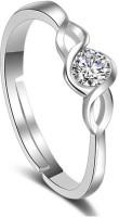 Karatcart Zinc Crystal Platinum Plated Ring