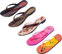 Indistar Women Red::Brown::Red:Black ::Orange:Yellow::Pink Sandals
