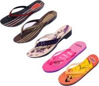 Indistar Women Purple::Brown::Red:Black ::Orange:Yellow::Pink Sandals