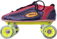 JJ Jonex SUPER PROFESSIONAL SHOE Quad Roller Skates - Size 6 UK(Black, Red)