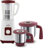 KENSTAR ESTER 7 750 W Mixer Grinder(WHITE AND RED, 3 Jars)
