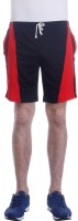 Tees Tadka Solid Men Blue, Red Sports Shorts