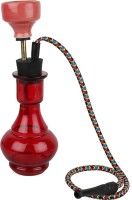 pegs'N'pipes Econo 10 inch Glass, Brass Hookah(Red)