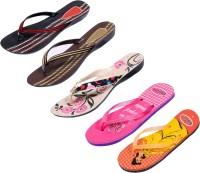 Indistar Women Pink ::Brown::Red:Black ::Orange:Yellow::Pink Sandals