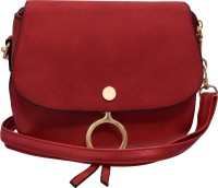 Tap Fashion Women Red PU Sling Bag