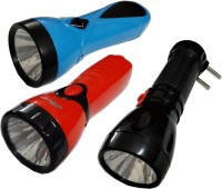 View Tuscan Rechargeable LED Torch Set of 3Pcs 0.5W Torches(Black:Red:Blue) Home Appliances Price Online(Tuscan)