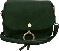 Tap Fashion Women Green PU Sling Bag