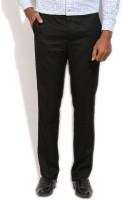 John Players Regular Fit Men's Black Trousers