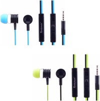 Candytech CT-HF-S40-U-GRN + CT-HF-S40-U-BLU Wired Headset with Mic(Green, Blue, In the Ear) thumbnail