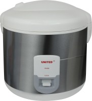 United X704-28 Electric Rice Cooker with Steaming Feature(2.8 L, Silver)