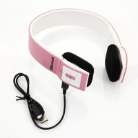 VibeX � On-Ear Head Wearing Foldable 3.0 USB Rechargeable Stereo Headset with Mic(Pink, White, Over the Ear)
