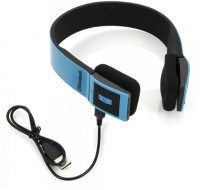 VibeX � V4.0+EDR 2ch Stereo Audio withBuilt-in Microphone Headset with Mic(Blue, Black, Over the Ear)