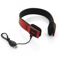 VibeX � BH23 3.0 EDR 2CH Stereo Audio with MIC Headset with Mic(Red, Black, Over the Ear)