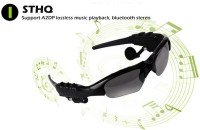 VibeX � Bluetooth Talk function Headphone Sun Glasses Micphone Headset with Mic(Black, In the Ear)